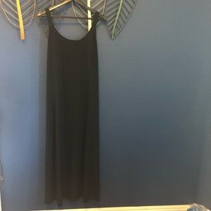 Express Simple Black Long Dress Size 11/12